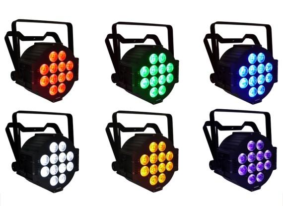 LED valgustid rendilehele lisandus: 12 x 12W RGBA wireless & akuga